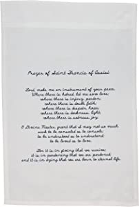 3dRose fl_110280_1 Prayer of St. Francis of Assisi Spirituality Religion Garden Flag, 12 by 18-Inch