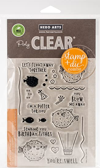 Hero Arts Im A Im A Puffer for You Clear Stamp /& Die Combo