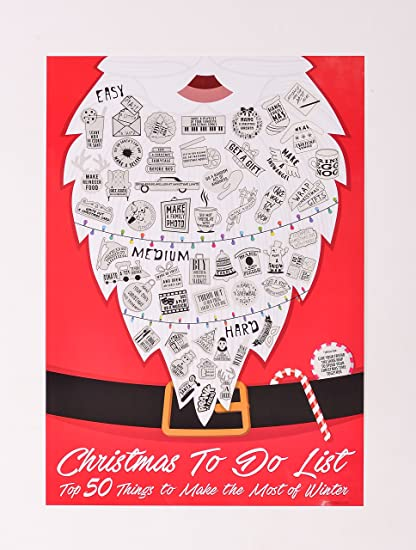amazon com scratch off christmas to do list best holiday