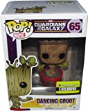 Dancing Groot Pop Ravagers Logo Exclusive Vinyl Bobble Head Figure Guardians Of The Galaxy