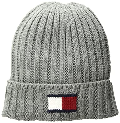 c743d39b76a Tommy Hilfiger Men s Knit Logo Cuffed Hat