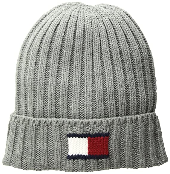 Tommy Hilfiger Men s Knit Logo Cuffed Hat 41da4d407bd