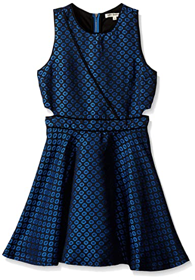 f9678cbd4a2ea Amazon.com: Miss Behave Girls' Big Brandy Dress, Navy Small: Clothing