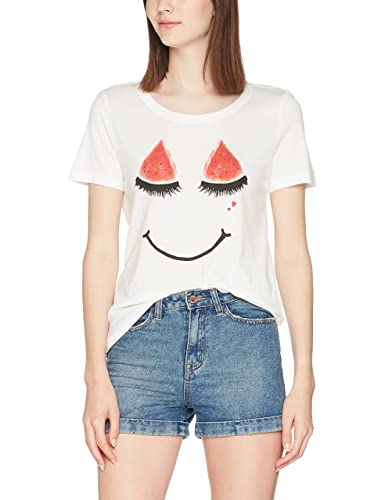 Only Onlmelon S/S Print Top Box Ess, Camiseta para Mujer
