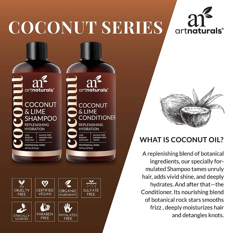 ArtNaturals Mascarilla Pelo de Aceite de Coco - (8 Oz / 236 g) - Acondicionador Profundo - Mascarilla Capilar Restaurativa - Queratina - Ayuda a ...