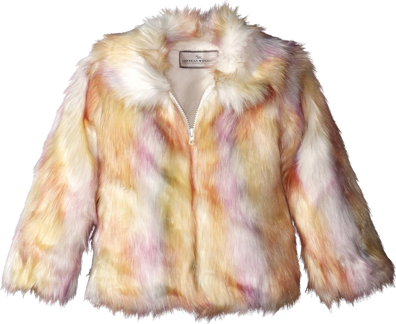 Widgeon Girls Long Faux Fur Hooded Zip Front Jacket
