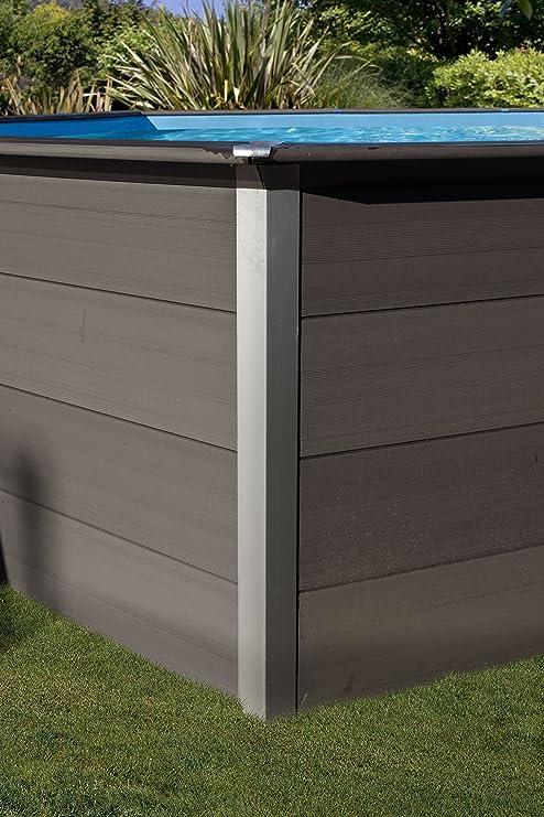 Piscina desmontable GRE de composite rectangular altura 124 cm ...