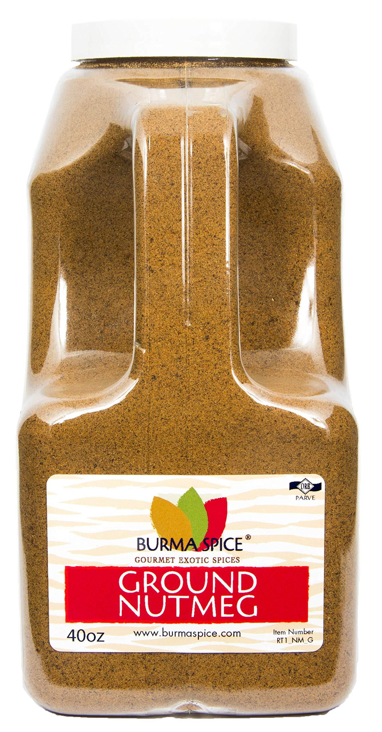 Ground Nutmeg : Pure Spice Blend Seasoning, No Additives, Holiday Spice : Kosher (40oz.)