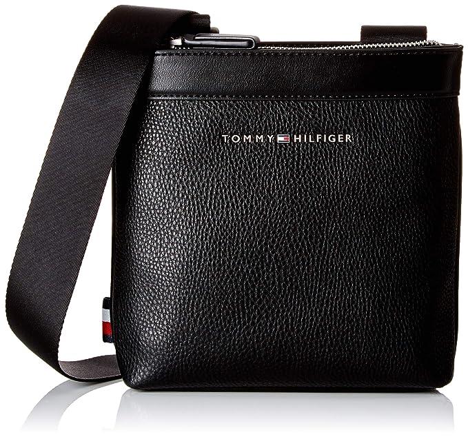 TOMMY HILFIGER Essential Crossover Umhängetasche Tasche Black Schwarz Neu