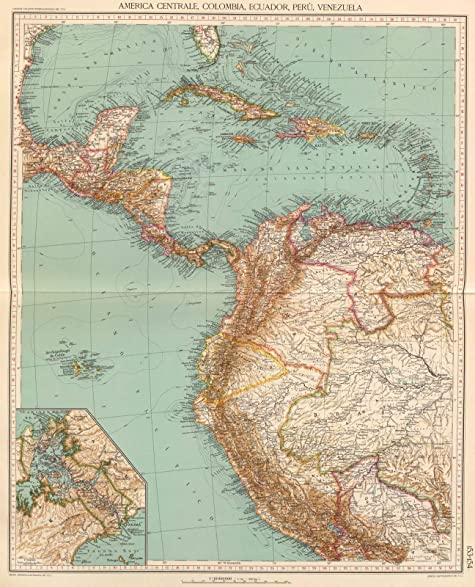 Amazon world atlas 1929 153 54 america centrale colombia world atlas 1929 153 54 america centrale colombia ecuador peru gumiabroncs Choice Image