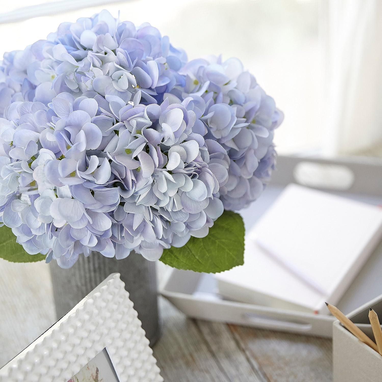 Amazon.com: Butterfly Craze Artificial Hydrangea Silk Flowers for ...