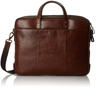 kinder hoch gelobt heißer Verkauf online Fossil Herren Herrentasche – Defender Briefcase Laptop Tasche, Braun  (Cognac), 10.16x31.75x41.91 cm
