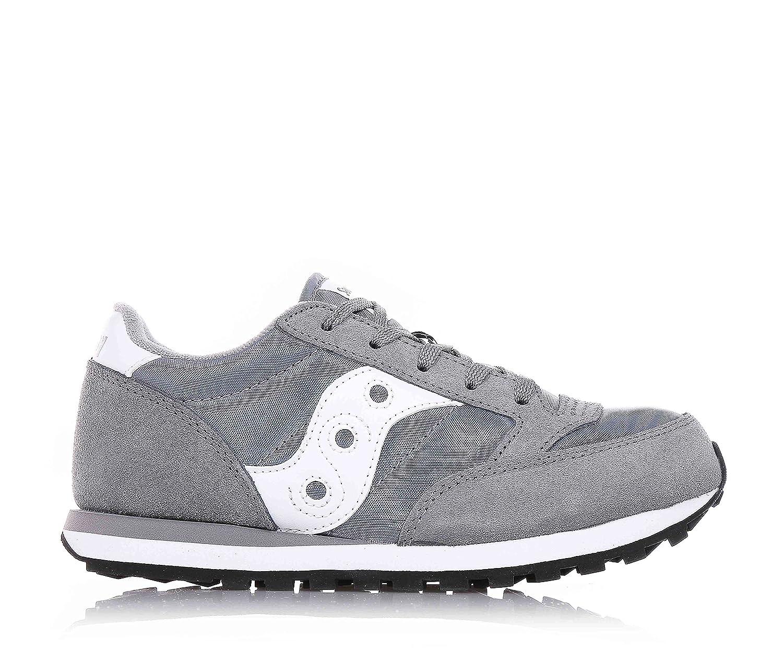SAUCONY - Chaussure suède de sport grise à lacets, en suède Chaussure et synthétique, colorée, confortable et à la mode, enfant (garçon ou fille) 36 EU|Grigio/Bianco b44e18