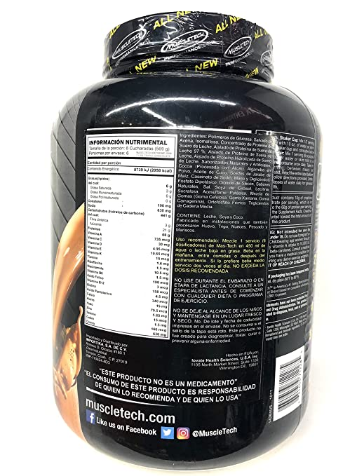 Amazon.com: Muscletech Masstech Performance Supplement, Chocolate, 7 Pound (Multi-Pack): Health & Personal Care