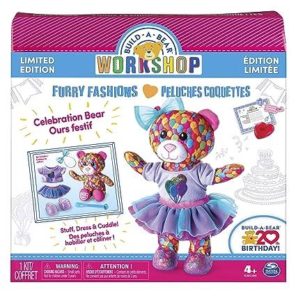 amazon com build a bear workshop furry fashions 20th birthday
