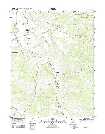 Amazon Com Topographic Map Poster Hopland Ca Tnm Geopdf 7 5x7 5