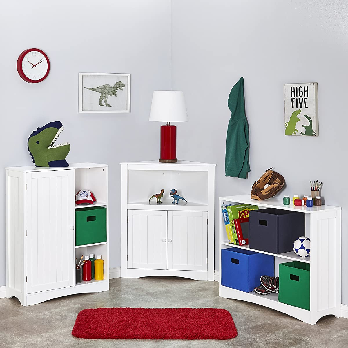 RiverRidge Kids 02-140 2-Door Corner Cabinet - White