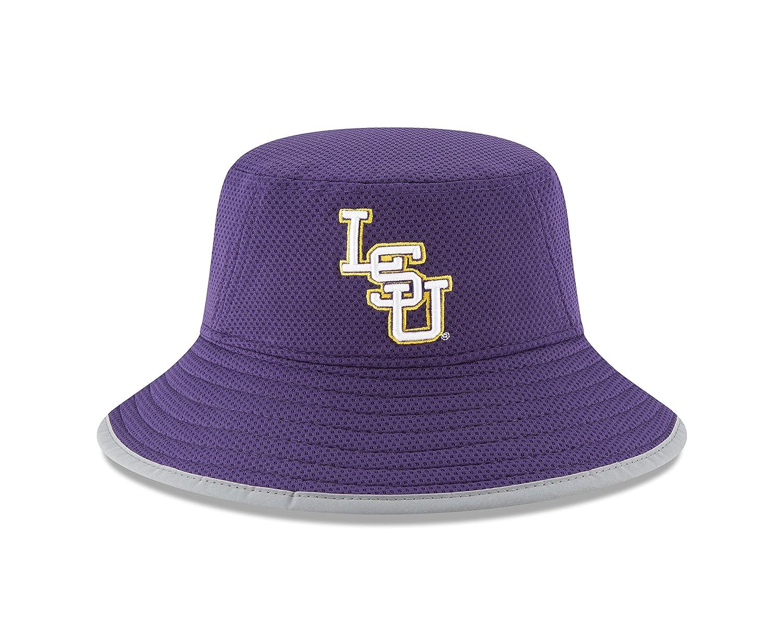 155220779 New Era NCAA LSU Tigers Adult NE16 Training Bucket Hat, One Size, Purple