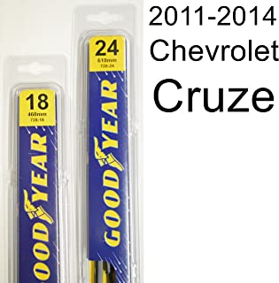 "product image for Chevrolet Cruze (2011-2014) Wiper Blade Kit - Set Includes 24"" (Driver Side), 18"" (Passenger Side) (2 Blades Total)"