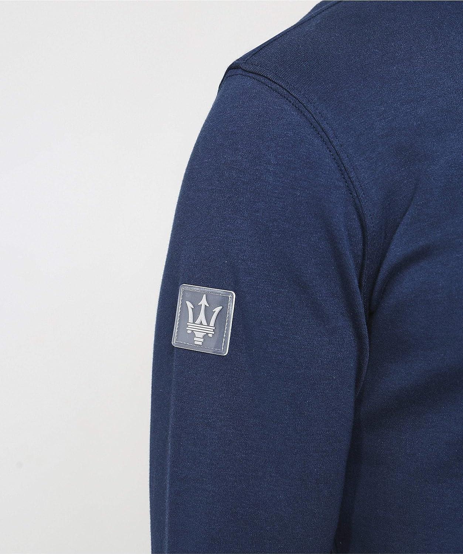 La Martina Mens Slim Fit Half-Zip Cymbeline Sweatshirt Navy