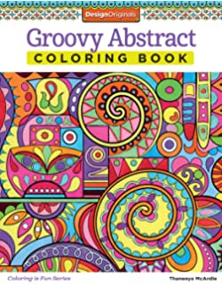 Groovy Abstract Coloring Book Design Originals Is Fun