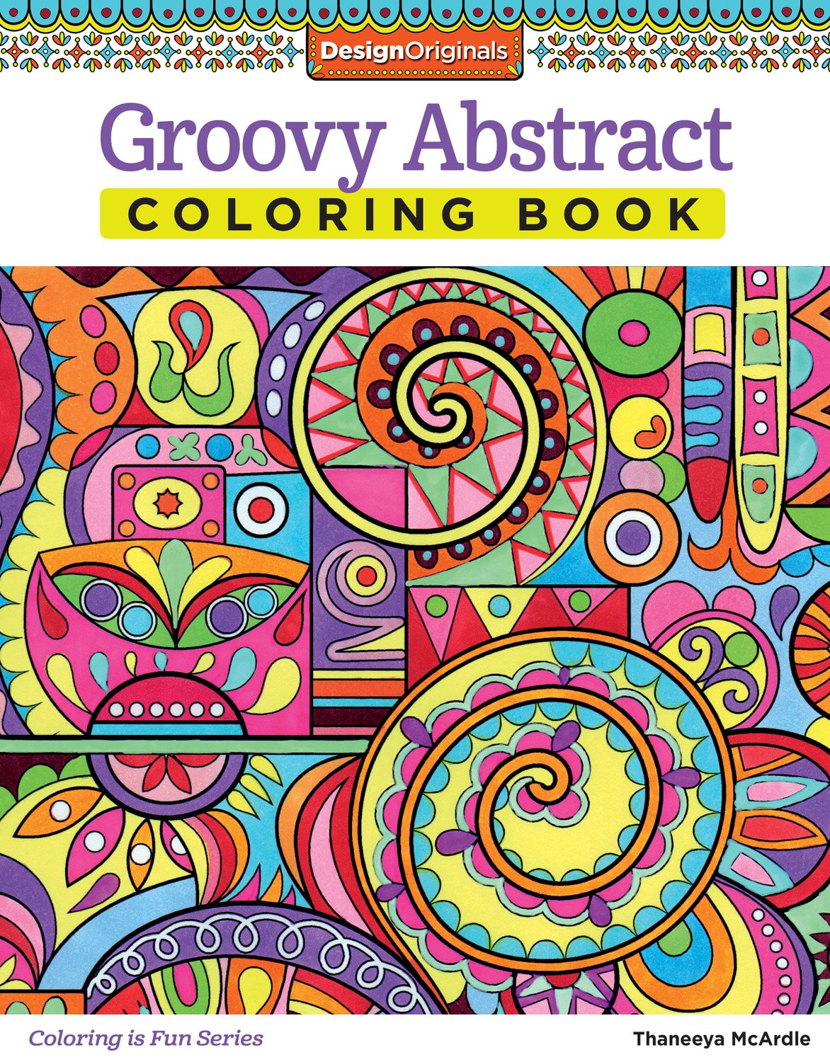 Groovy Abstract Coloring Book Amazonca Thaneeya McArdle Books