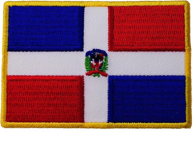 República Dominicana bandera hierro en parche bordado D34: Amazon ...