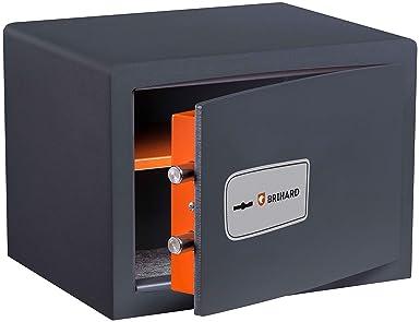 Brihard Protector Caja Fuerte con Cerrojo de Llave 25x35x25cm (HxWxD)