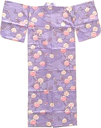 "Made in Japan Japanese 58/""L Women/'s Sakura Shibori Turquoise Kimono Yukata Robe"