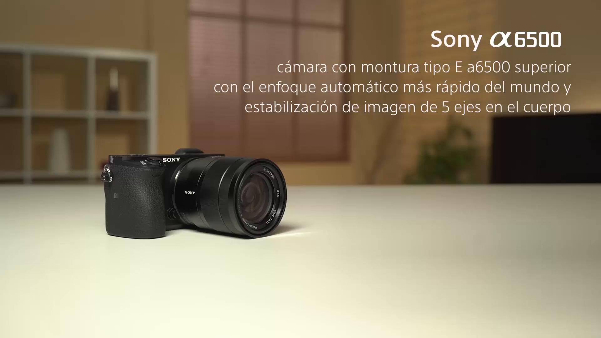 Sony Alpha ILCE6500ZBDI - Cámara (24.2 MP, 11fps, 5 ejes, AF de ...
