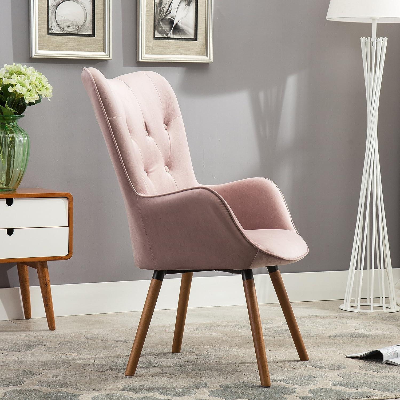 Amazon.com: Roundhill Furniture Doarnin Contemporary Silky Velvet ...