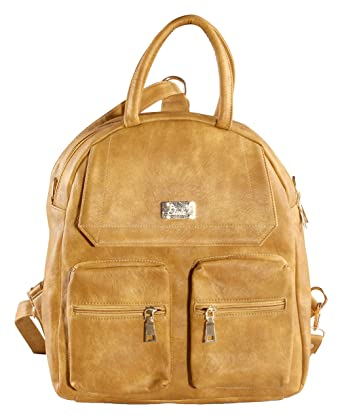 74944a6824c9 Elvie Women s Backpack Handbag (Camel)  Amazon.in  Clothing   Accessories