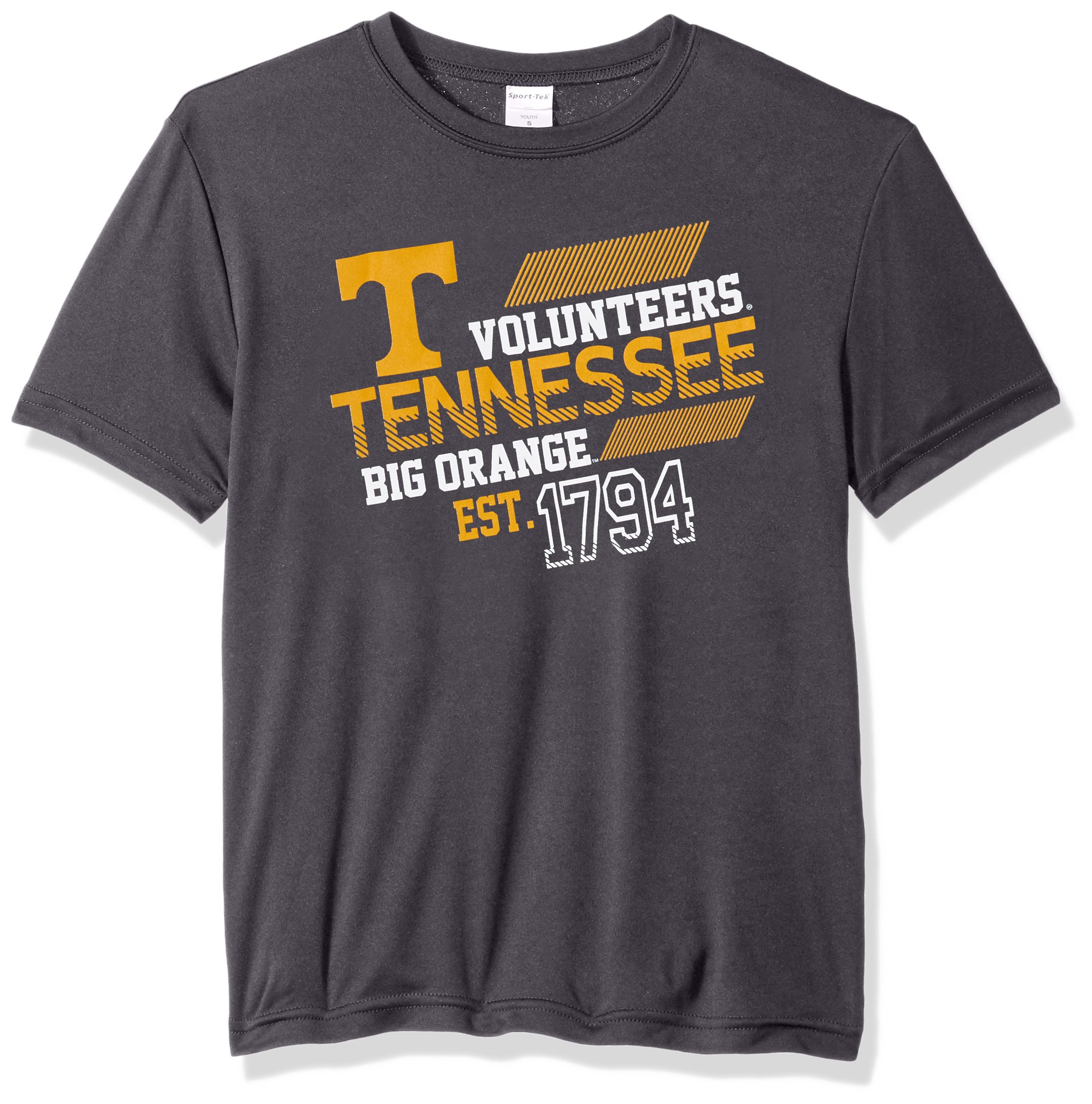 Tennessee Volunteers Offsides Short Sleeve Polyester Competitor T Shirt Iron Grey Irongre