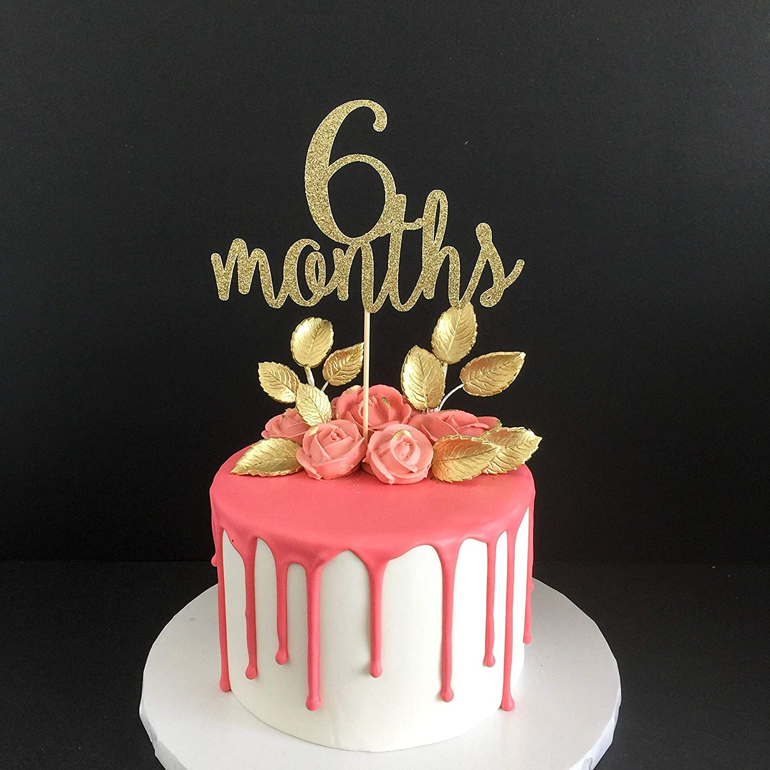 Prime Funcart 6 Months Half Birthday Acrylic Cake Topper Amazon In Personalised Birthday Cards Paralily Jamesorg