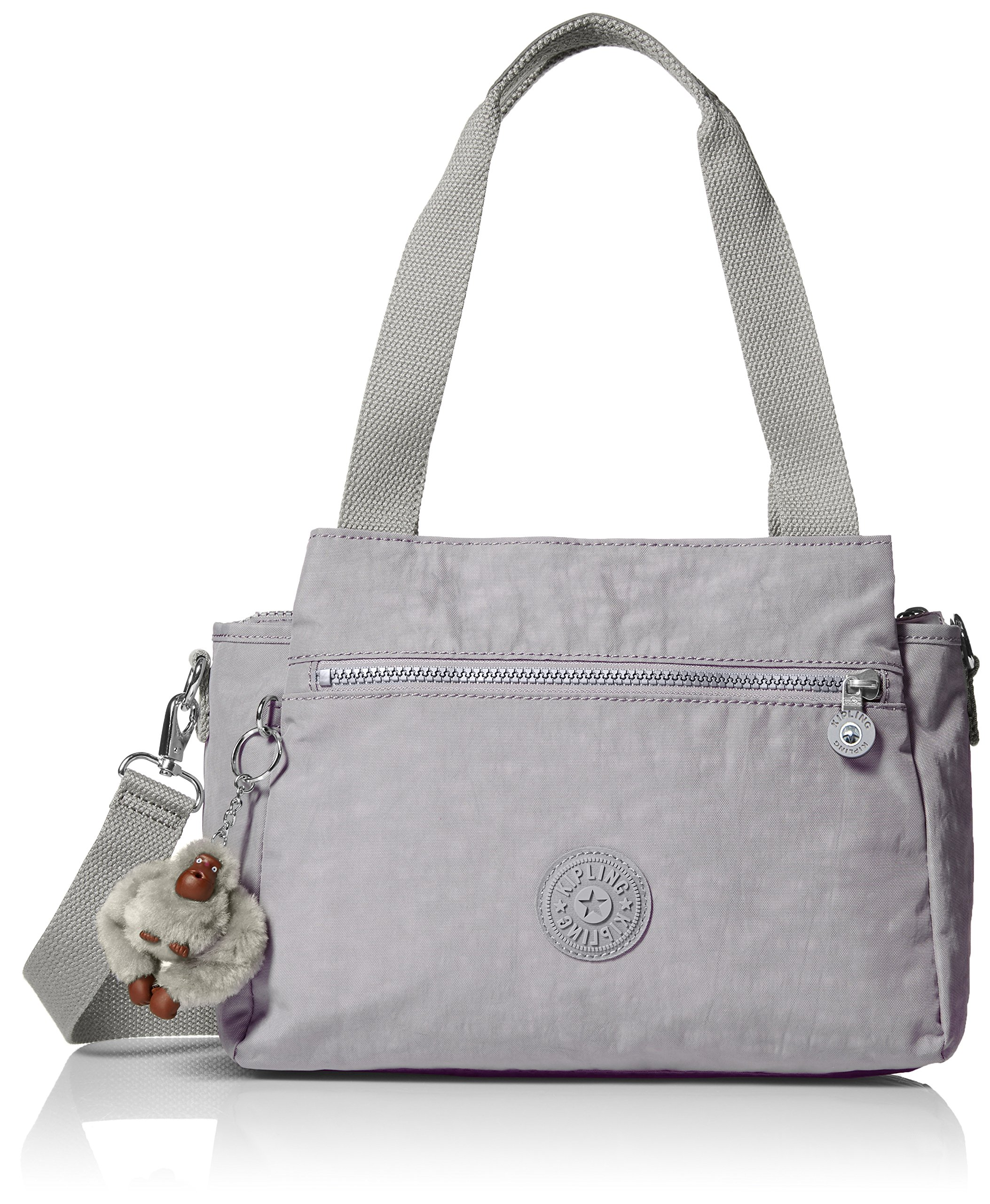Kipling Elysia Slate Grey Tonal Handbag t