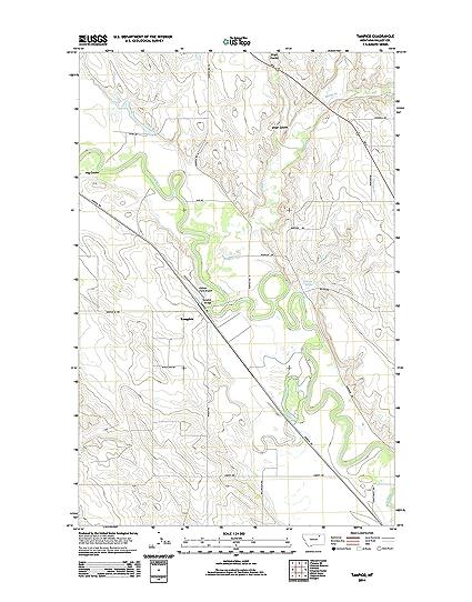 Amazoncom Topographic Map Poster TAMPICO MT TNM GEOPDF 75X75
