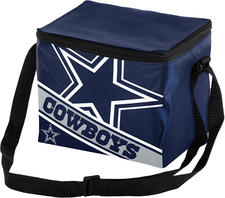 FOCO NFL Big Logo Stripe 6-Pack Cooler