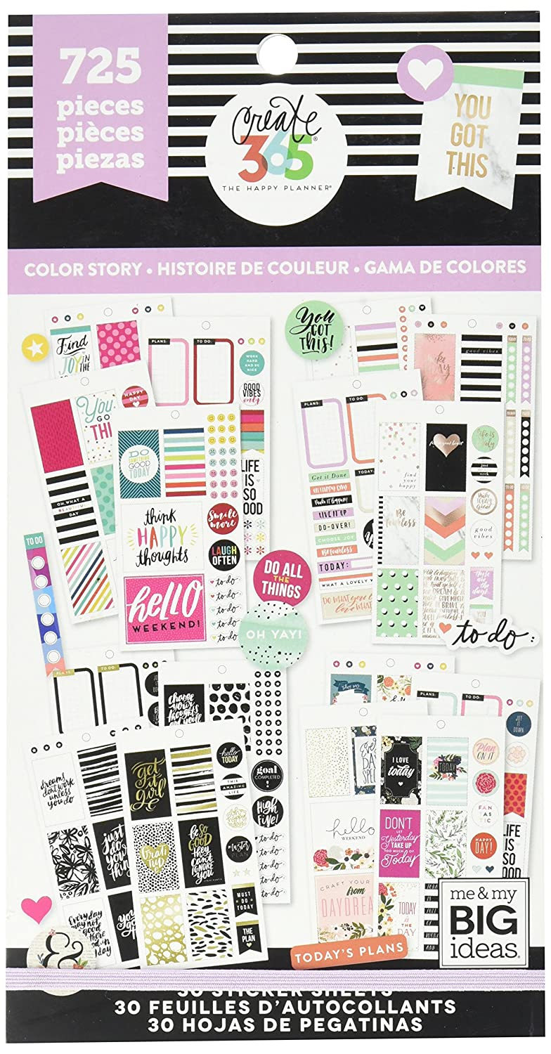 Create 365 Happy Planner Sticker Value Pack-Classic Color Way Me & My Big Ideas PPSV-10-2048