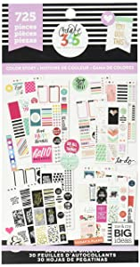 me & my BIG ideas PPSV-10 Create 365 The Happy Planner Sticker Value Pack Planner, Classic Color Story, 725 Stickers