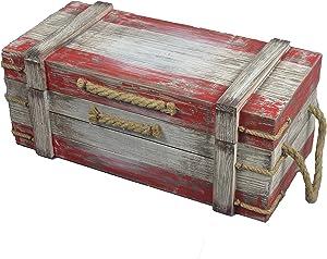 Distressed Wood Nautical Pirate Treasure Chest