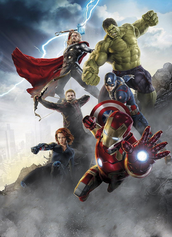 Wandbild 180 x 202 cm 2 teilig Kleister Fototapete Marvel The Avengers