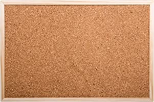 Office Works, Small Cork Board, 11.5 x 17.5 inches, Beige