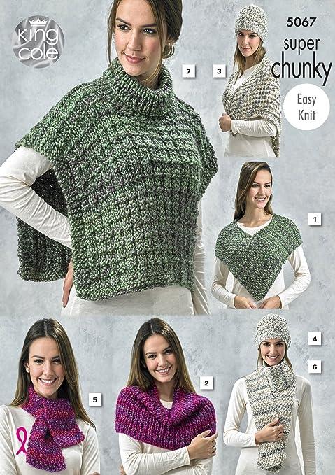 King Cole Señoras DK Tejer patrón para Mujer Suéter fácil Cable /& Top 5617