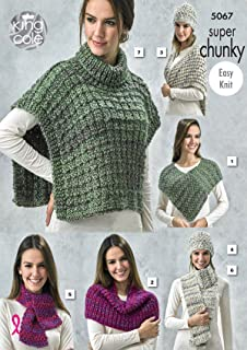 King Cole Knitting Pattern Ladies Lace or Mesh Shawls /& Girls Scarves Yummy 4540