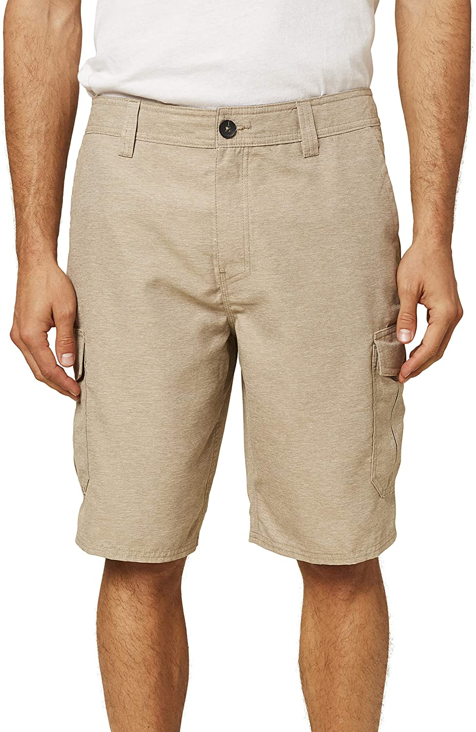 Hand-crafted Striped Cargo Pocket Shorts 100/% Cotton
