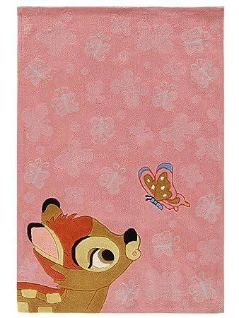Disney Teppiche: Kinderzimmer Kinderteppich Bambi Rosa 115x168 cm ...