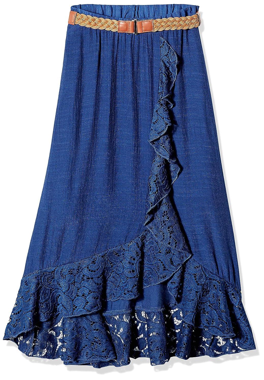 Garden Navy Amy Byer Girls Big Ruffle Front Maxi Skirt L