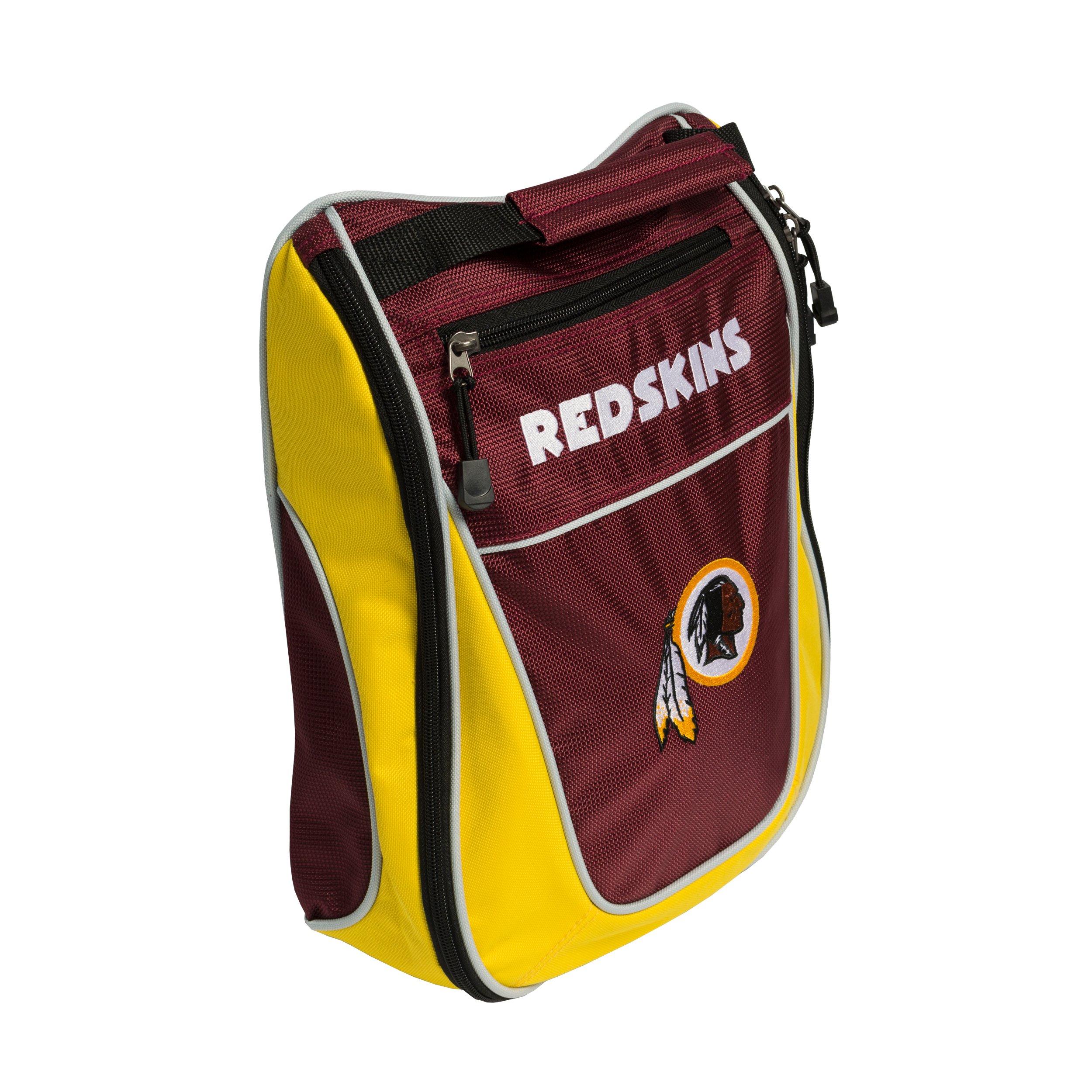 Team Golf NFL Washington Redskins Travel Golf Shoe Bag, Reduce Smells, Extra Pocket for Storage, Carry Handle by Team Golf