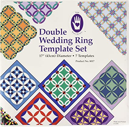 Acrylic Template Set ~ DOUBLE WEDDING RING ~ by Marti Michell Set of 7 templates