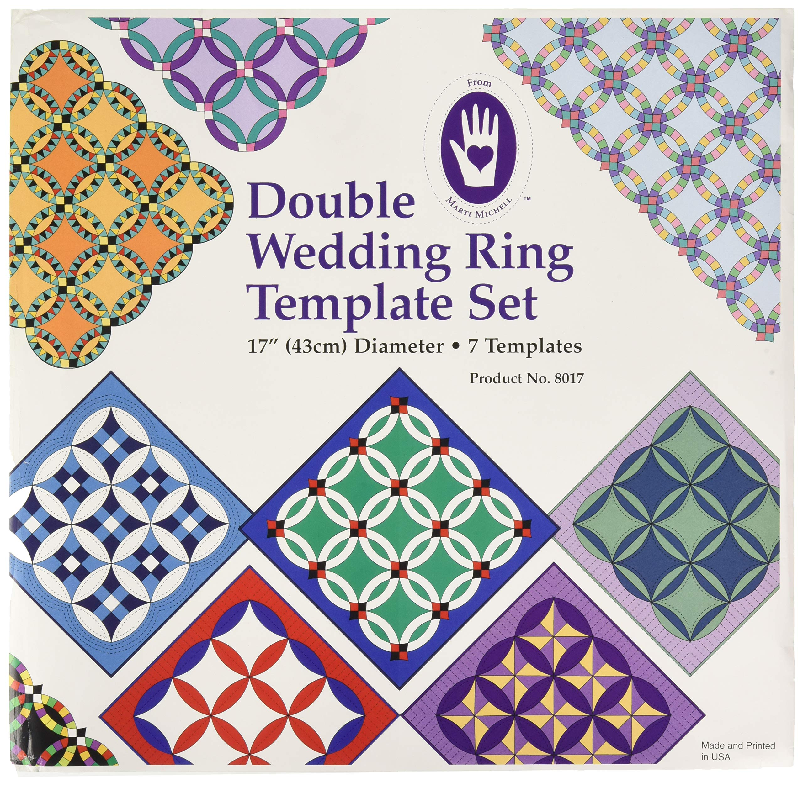 Marti Michell 4336997437 Double Wedding Ring Template by Marti Michell